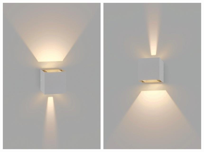 Crossled lampada da parete regolabile alluminio esterno interno