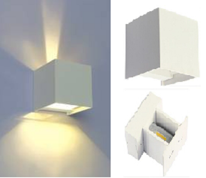 crossled: Applique led per esterni doppia luce regolabile 6w luce ...