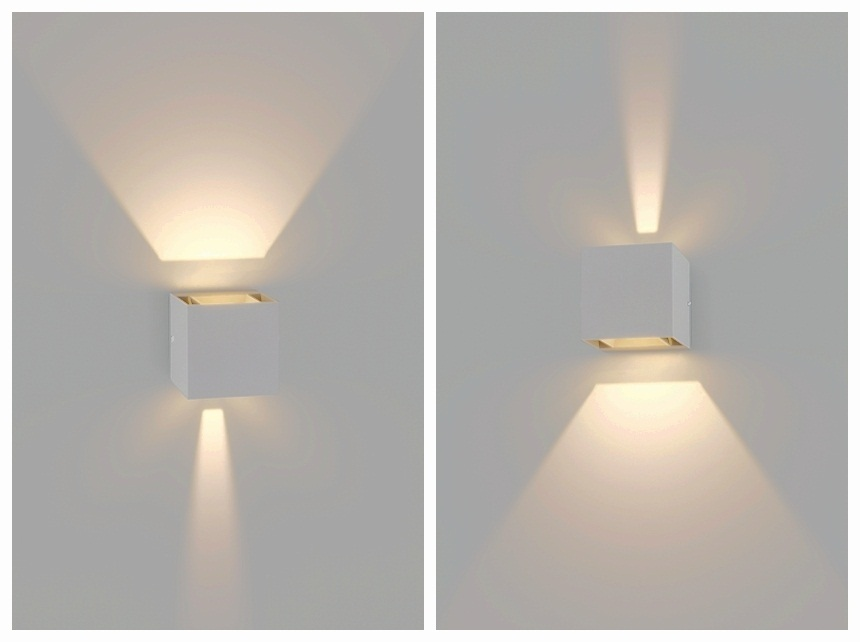 Plafoniere Da Esterno A Parete Led : Applique per esterni con illuminazione led up and down ideale