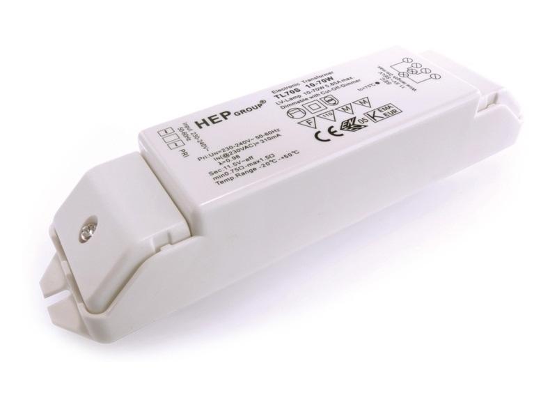 Trasformatore elettronico 12v 10 70w dimmerabile per lampade alogene