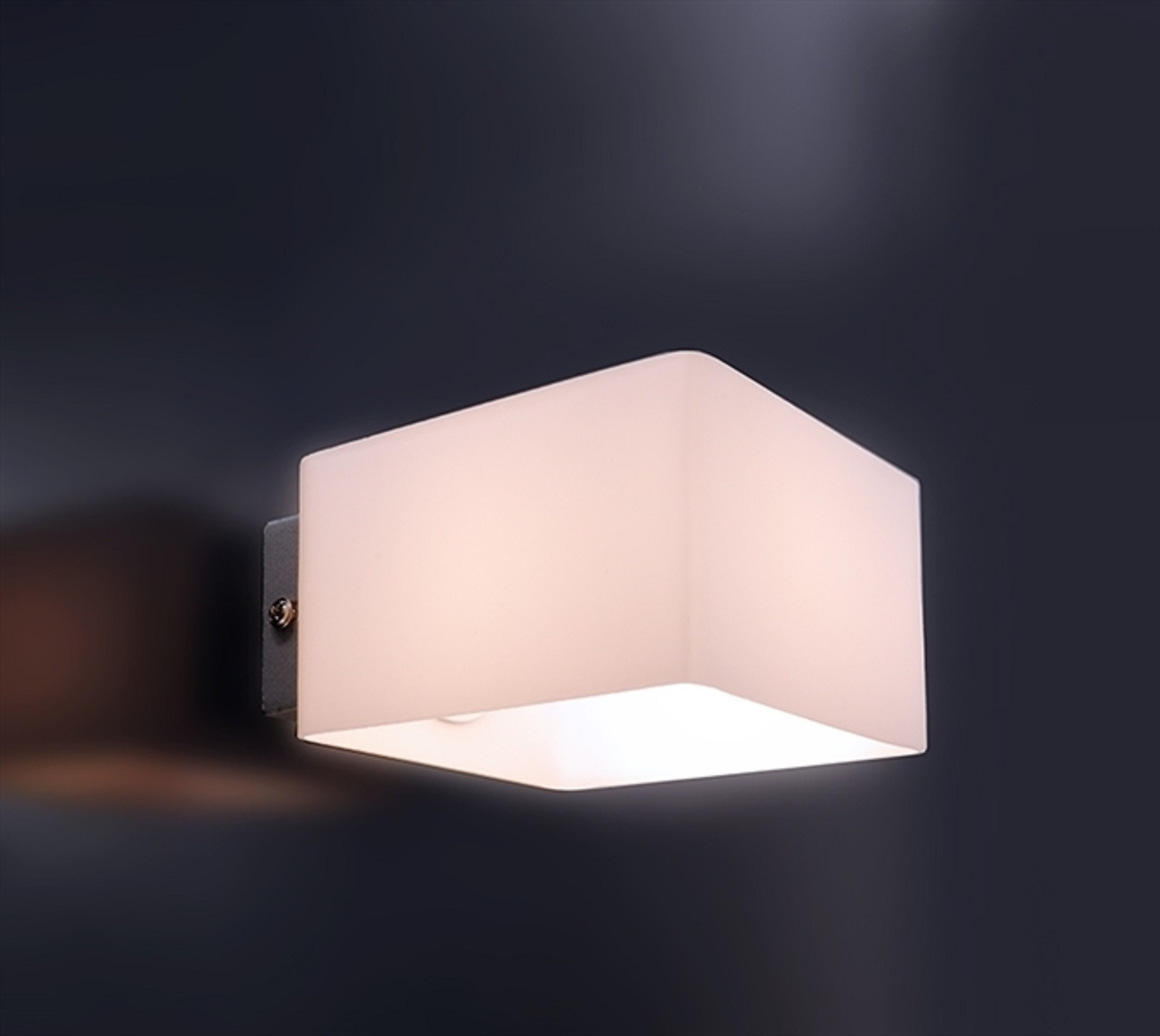 crossled: Lampada da parete Applique in vetro bianco G9 230V ...