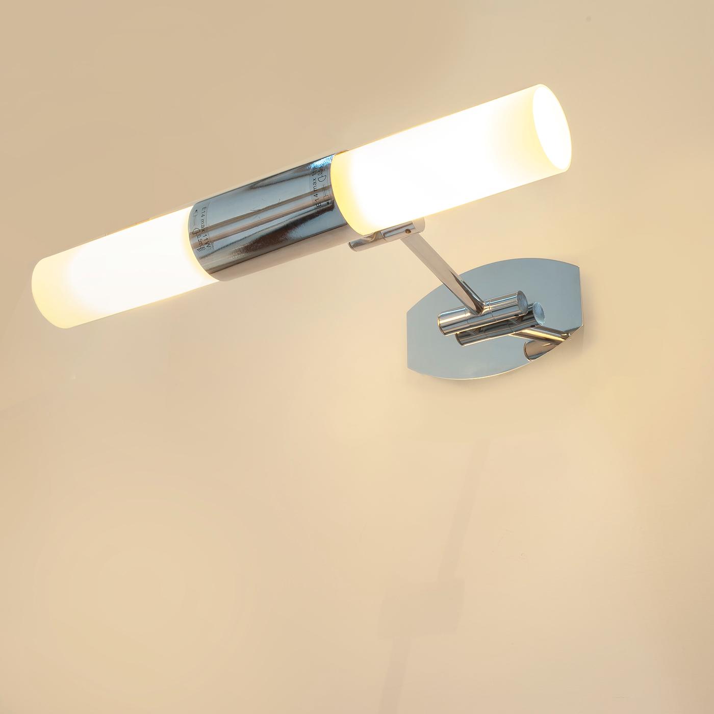 Lampada led da specchio bagno parete applique regolabile luce calda 10w e14  230v