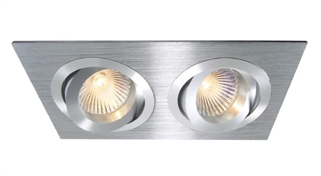 Plafoniere Led Da Incasso : Crossled faro rettangolare doppia luce incasso w led lampada