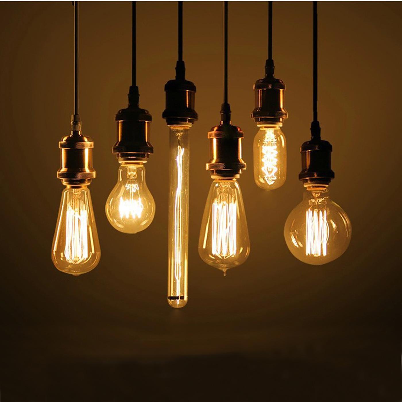 Cavi Per Lampadari A Sospensione.Pendente E27 Vintage Retro Portalampada Cavo Telato Lampada A