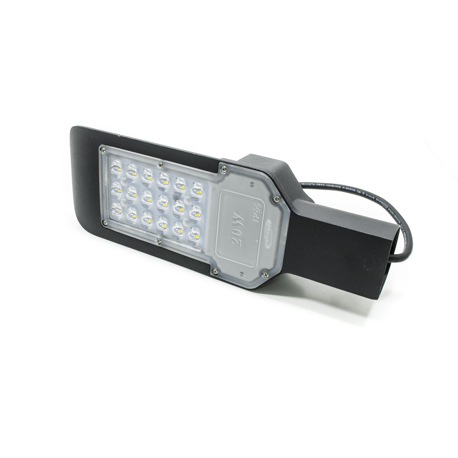 Faro led stradale armatura lampione palo parete luce industriale esterno ip65