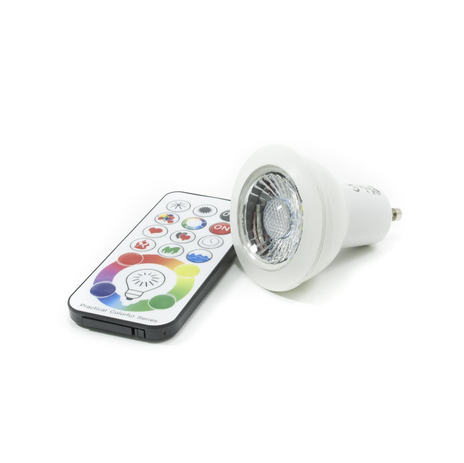 crossled: Led-strahler GU10 RGBW 6w led-lampe farbtherapie ...