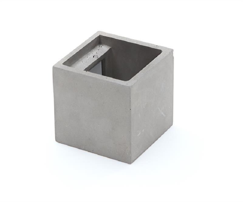 Lampada In Cemento Fai Da Te : Applique led g cemento pietra cubo biemissione lampada parete