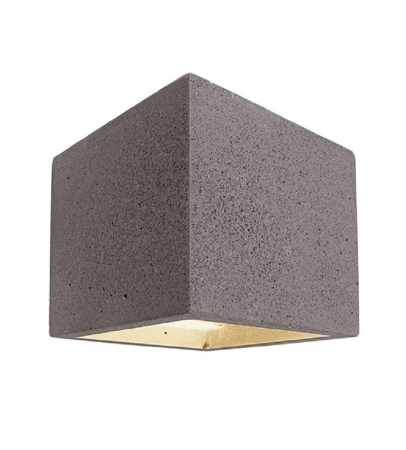 Ciment De G9 Cube OscommerceApplique Murale Pierre Led Biemissione lKJF1c