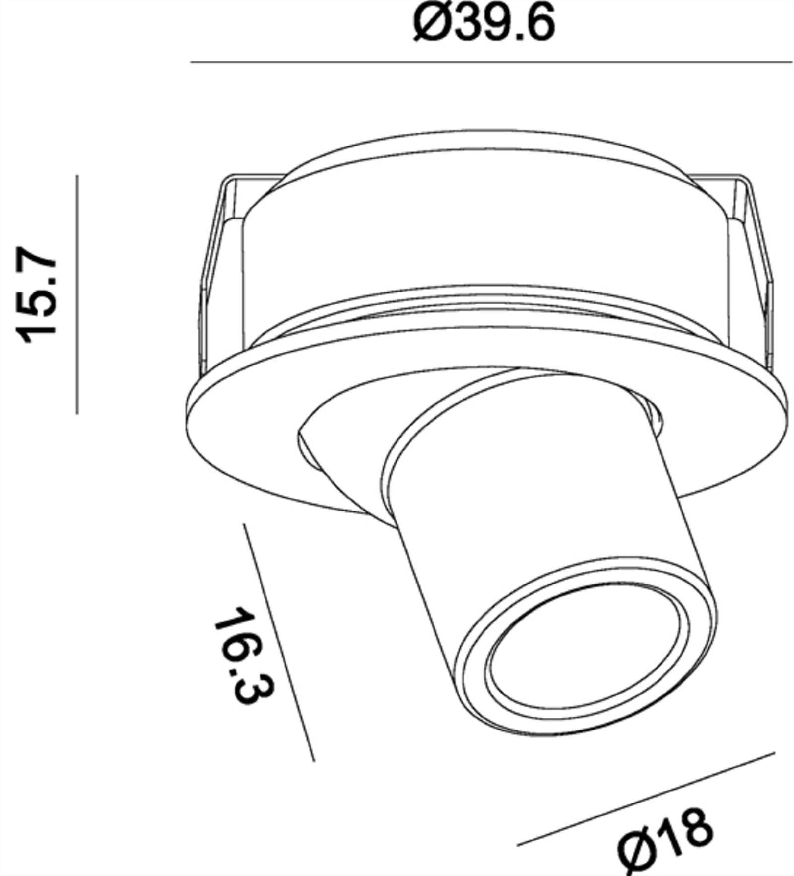 crossled: strahler spot leuchte schwenkbar einbauleuchte 35mm led 1w