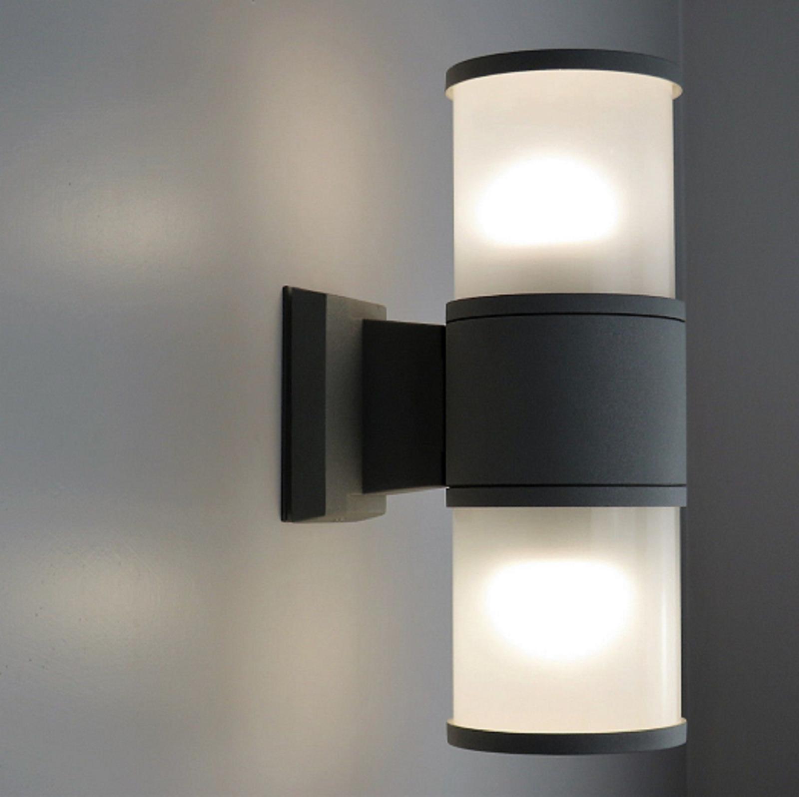 Lampade Per Porticati Esterni dettagli su applique da esterno ip65 led 20w doppia luce diffusa lampada da  parete rgb rgbw