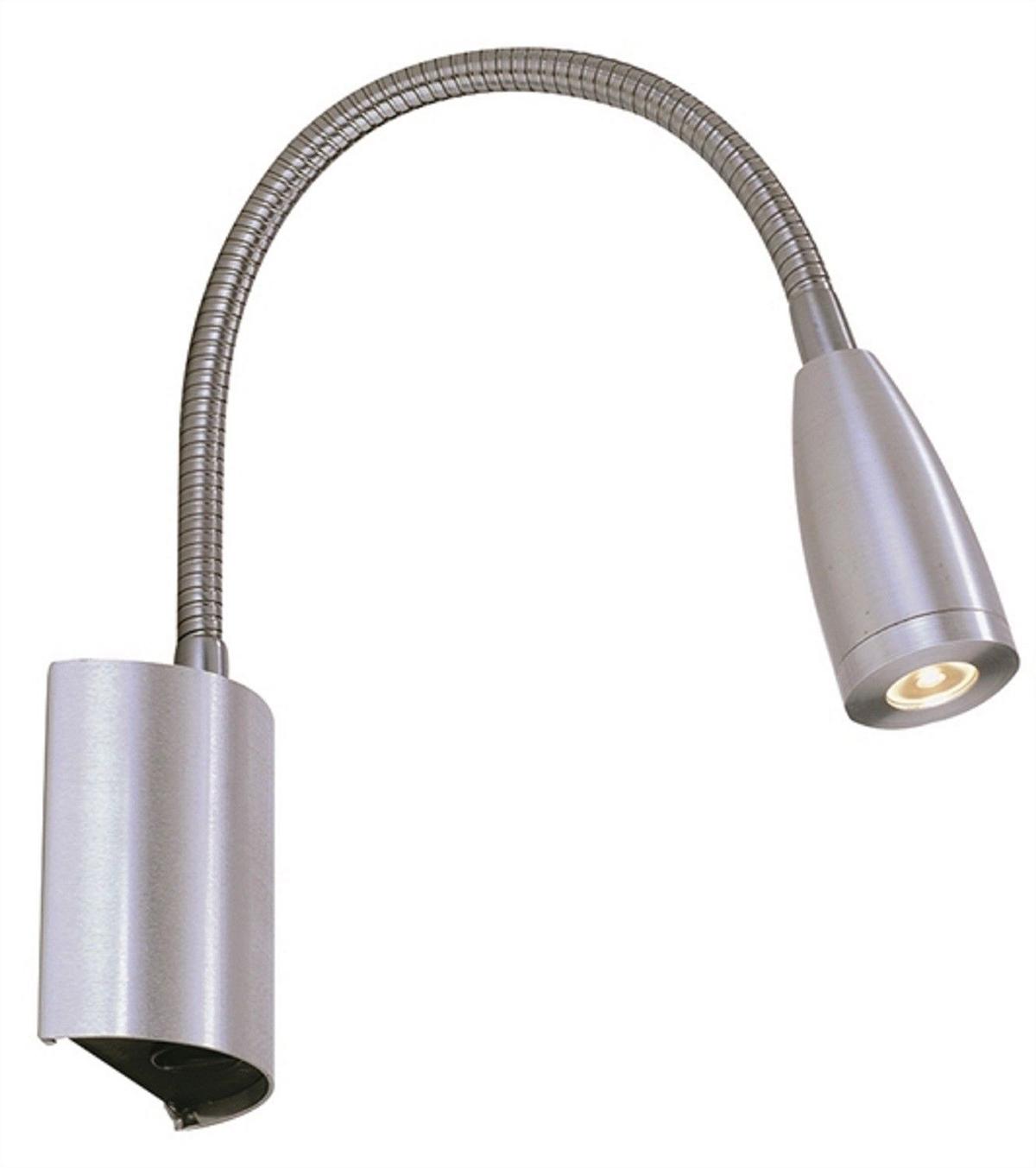 Lampada da lettura LED braccio flessibile 3w luce calda applique comodino letto