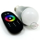 Led lamp e27 rgb chromotherapy 6w 16 colors light 4 games rf remote control included