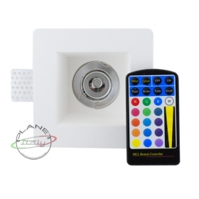 Spotlight recessed plaster disappearance led gu10 5w rgb chromotherapy 16 colors light 12x12cm