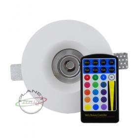 Spotlight led lamp rgb 5w recessed plaster disappearance chromotherapy 220v RGB LED
