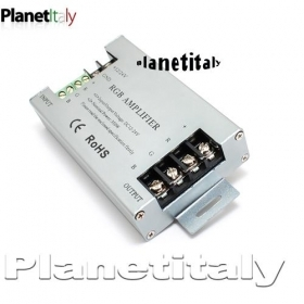 Amplificatore di segnale per strip led rgb 12-24v controller centralina amplifier per led rgb