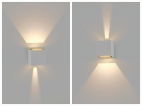 Wall led Cube 6w beam Light Adjustable Biemissione 6W 4000K IP65