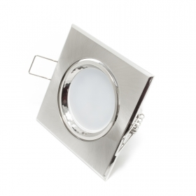 Led spotlight lamp, adjustable 12v 7w MR16 recessed SILVER 160 degrees hole 7cm