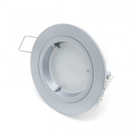 Spotlight led lamp 7w gu10 220v recessed GREY ROUND 160 degrees hole 7cm R