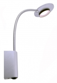 Reading lamp LED flexible arm and on/off switch 4w warm light wall bedside bed