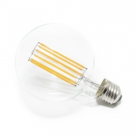 Lamp led filament bulb 6w G95 e27 globe warm light 6 watts light bulb back wire