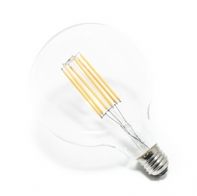 Lamp led filament bulb 6w globe G125 E27 warm light 6 watts light bulb back wire