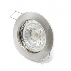Spotlight recessed round silve