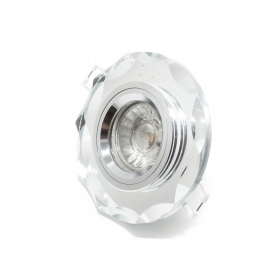 Spotlight lamp led 5w mirror 220v gu10 recessed round light 30 degree hole 6cm