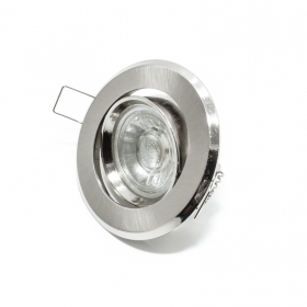 Spotlight lamp adjustable 5w led recessed ROUND spotlight GU10 SILVER 30 degree hole 7cm