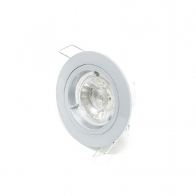 Spotlight led lamp 5w gu10 220v recessed GREY ROUND 30 degree spot hole 7cm R