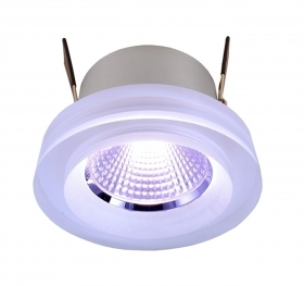 Spotlight recessed light chromotherapy LED COB RGB 8W speaker crystal glass 24v