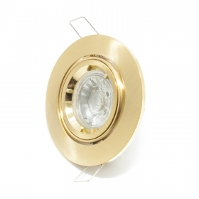 Spotlight lamp adjustable 5w led gu10 ROUND recessed GOLD 30 degree hole 8cm R