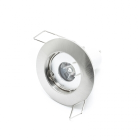 Led spot light recessed 1w MR11 GU10 silver lamp light 30 degree hole 4cm hi-power
