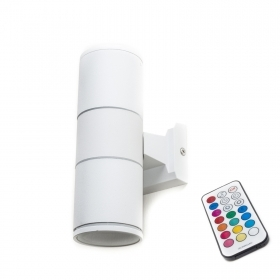 Applique lampe RGB-led up-down, 8w, IP55 wand-doppel-strahl der fernbedienung, gu10