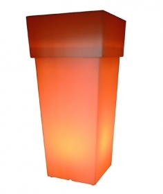 Vase light resin outdoor IP65 105cm LED lamp RGBW 8W color change