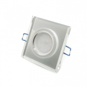 Led spotlight 7w 12v square mirror MR16 recessed light 160 degrees hole 6cm