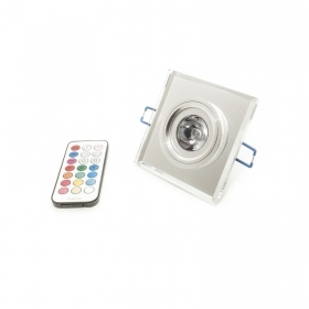 Led spotlight 4w RGB square mirror 220v GU10 recessed light hole 6cm