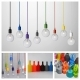Bulb holder pendant, colorful silicone cord fabric suspension chandelier E27