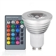 Ceiling light RGB led 3w chromotherapy ceiling lamp adjustable spotlight gu10