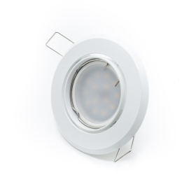 Led spotlight, recessed, 7w lamp with swivel-ROUND GU10 white 160 degree hole 7cm