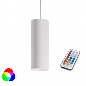 Lamp, led chromo RGB 3w pendant led spotlight gu10 suspension remote control wh