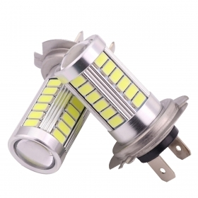 Pair lamps white light H7 car led 5630 10w fog light headlight drl 2