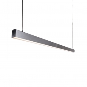 Led surface-mounted luminaire, pendant home office 15w brushed aluminium, 102cm 1730lm
