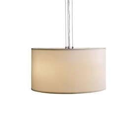 Chandelier pendant suspension fabric 500x270mm e27 led halogen 3 attacks