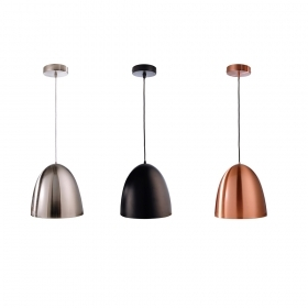 Pendant chandelier E27 suspension lamp, painted metal diameter 30cm