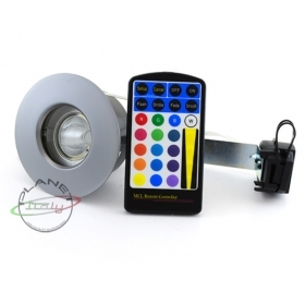 LED SPOTLIGHT RGB 5W 12V CHROMOTHERAPY STEAM SHOWER ROOM IP65 TRANSFORMER INCLUDED