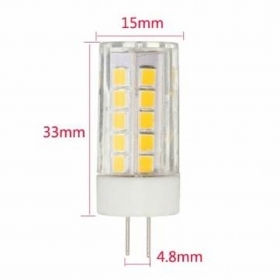 LED bulb G4 5W 53 led smd 400Lm 12V ac/dc power 45w energy-saving