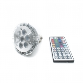 Led light bulb, PAR30 RGB 7w lamp E27 spotlight chromotherapy remote control
