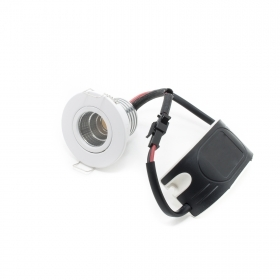 Led spotlight white 3w spot recessed hole 45mm cob swivel mini made 30w