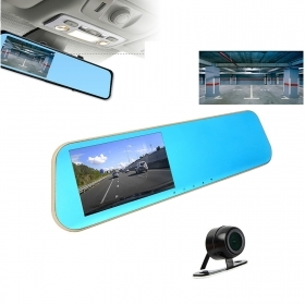 "The rear-view mirror dashcam lcd camera rear view camera car dvr, hd 4.3"" cam"