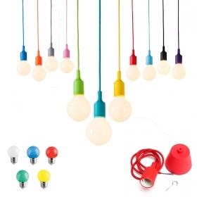 Pendant colored led cable fabric bu